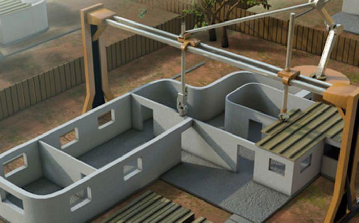 Architecture : Contour Crafting Machine où comment imprimer sa maison en 3D c'est ce qu'a réalisé Professor Behrokh Khoshnevis de l'Université de Caroline du Sud. ||| Voir également : http://wonderfulengineering.com/this-giant-3d-printer-will-print-your-house-in-24-hours/