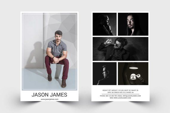 Pin On Comp Card Template