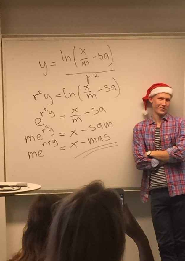 This maths teacher who is pretty damn pleased with his festive problem solving.