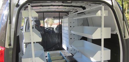 suitable for all work vans brute can customise a van racking system