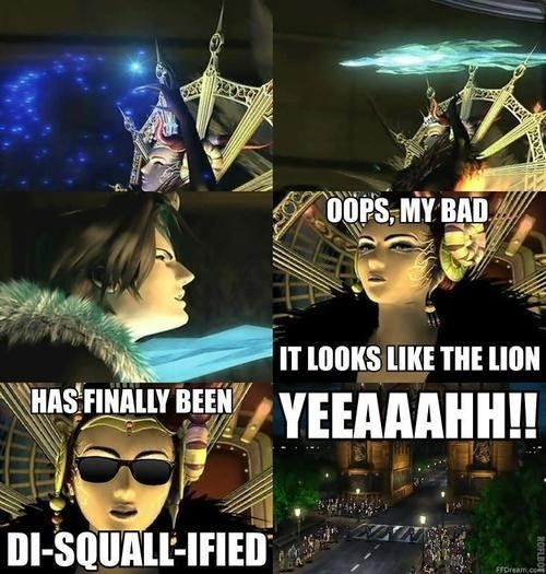 """Or this one when Squall got shanked by a giant ice-block: 