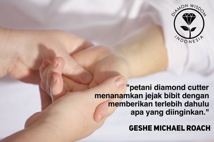 """Petani Diamond Cutter  menanamkan jejak bibit dengan memberikan terlebih dulu apa yang diinginkan.""  _Diamond Wisdom Indonesia_ *Geshe Michael Roach*  More info: www.diamondwisdom.co.id  Social Media:  Twitter: @DiamondWisdomID  Instagram: DiamondWisdomIndonesia  FB Group/Path/LinkedIn/Pinterest/YouTube: Diamond Wisdom Indonesia"