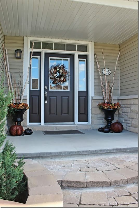 Sherwin Williams 'Weathervane' a deep chocolate brown color. Front door color.