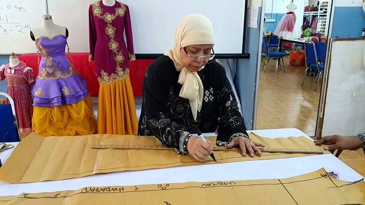 Teknik membuat pola jubah daripada pakaian yang telah siap