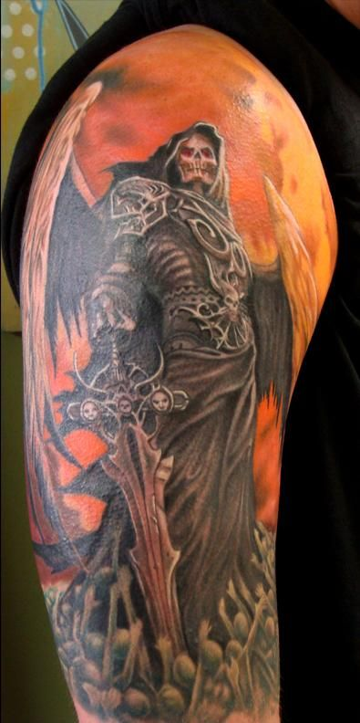 Steve gibson reaper tattoo tattoo pinterest for Tattoos of the grim reaper