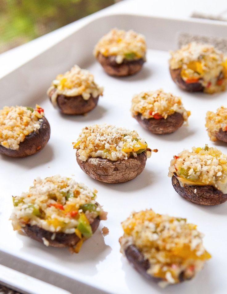 Recipe: Grilled Stuffed Mushrooms - A great grilled appetizer or side.