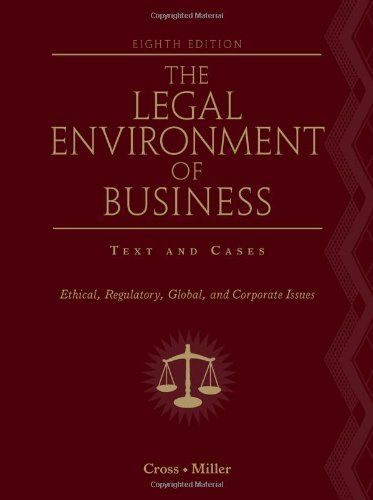I'm selling The Legal Environment of Business: Text and Cases: Ethical, Regulatory, Global, and Corporate Issues - $40.00 #onselz