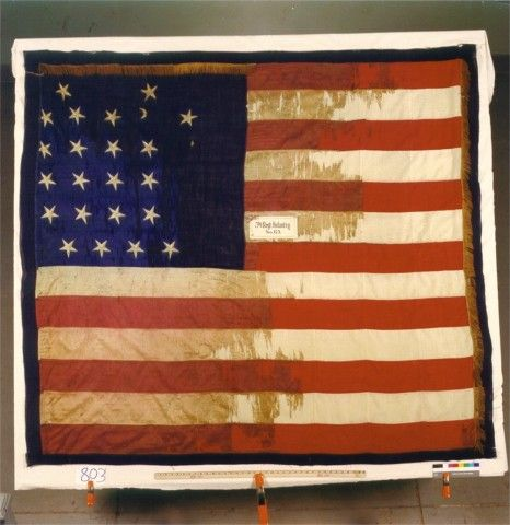 79th Indiana Infantry Civil War National Regimental Battle Flag.