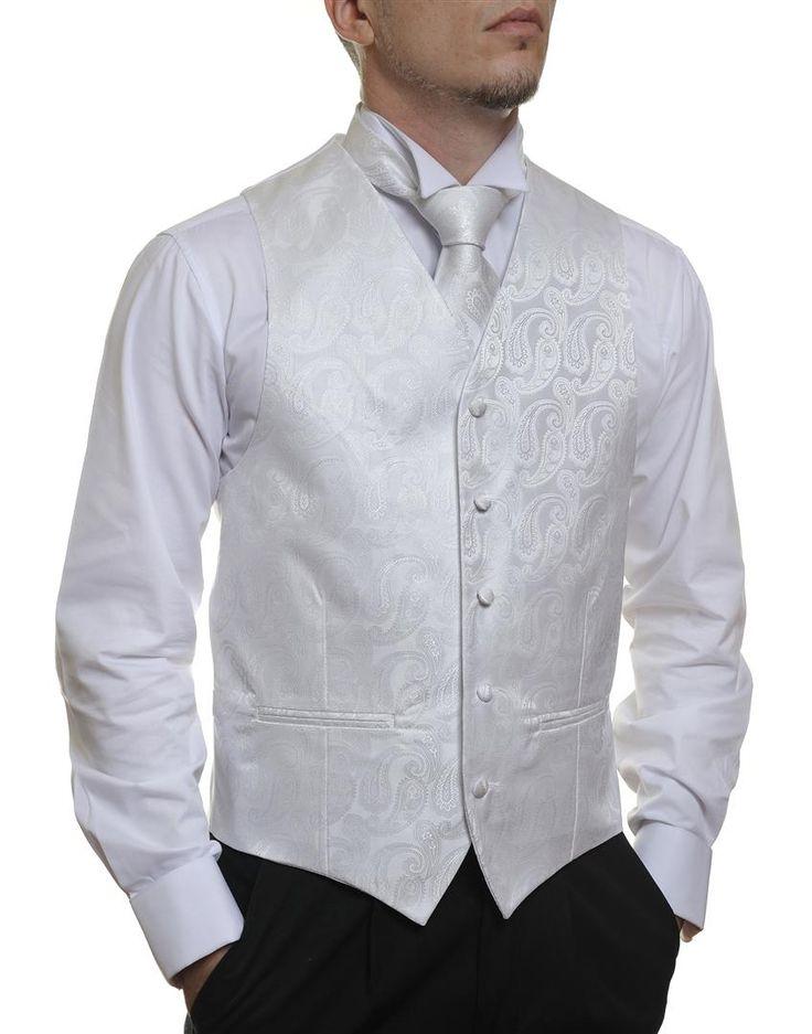 White Paisley #Australia made #AU #Groom #Dinner #Vest #Fashion #Clothing #Beautiful #Wedding