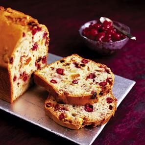 Cranberry fruit loaf with cranberry sauce recipe. A gorgeous alternative to Christmas cake. which can be served all year round.