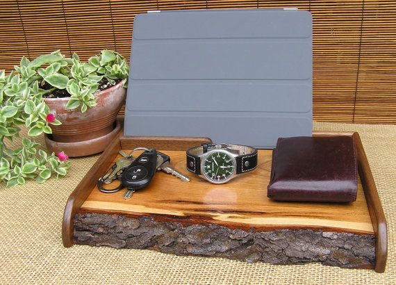 Mens Valet Catch All Valet Tray Charging Station