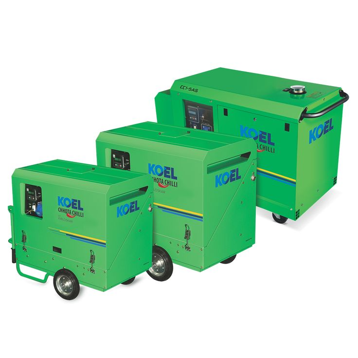 kirloskar portable diesel generator - KOEL Chhota Chilli Portable Diesel Generator in the range of 3kVA–5kVA by Kirloskar are powered by high-efficiency diesel engine; comply with the Noise Regulation & Emission Norms of CPCB.http://www.koelgreen.com/3-kva-5-kva