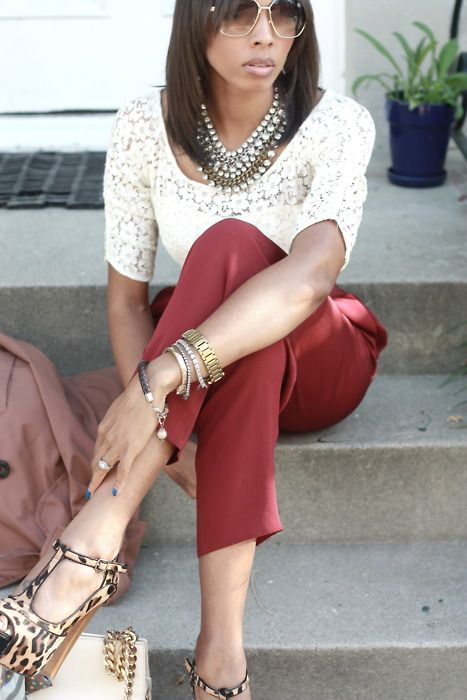 street style   Keep the Glamour   BeStayBeautifulThings Fashion, Fashion Plans, Leopards Shoes, Lace Chic, Buffalo Exchange, Vintage Lace, Style Inspiration, Street Style, Vintage Pants