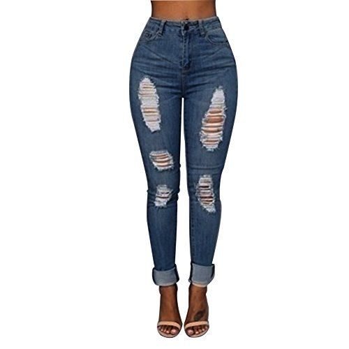 New Trending Denim: VICVIK Women Knee Skinny Denim Distressed Fashion Ripped Jeans (2XL, Blue). VICVIK Women Knee Skinny Denim Distressed Fashion Ripped Jeans (2XL, Blue)  Special Offer: $15.99  111 Reviews This skinny flare jeans for women used highly stretchable and soft denim fabric.Sexy tron boyfriend stylish jean joggers pants is thin and breathable.Modern skinny jeans are...
