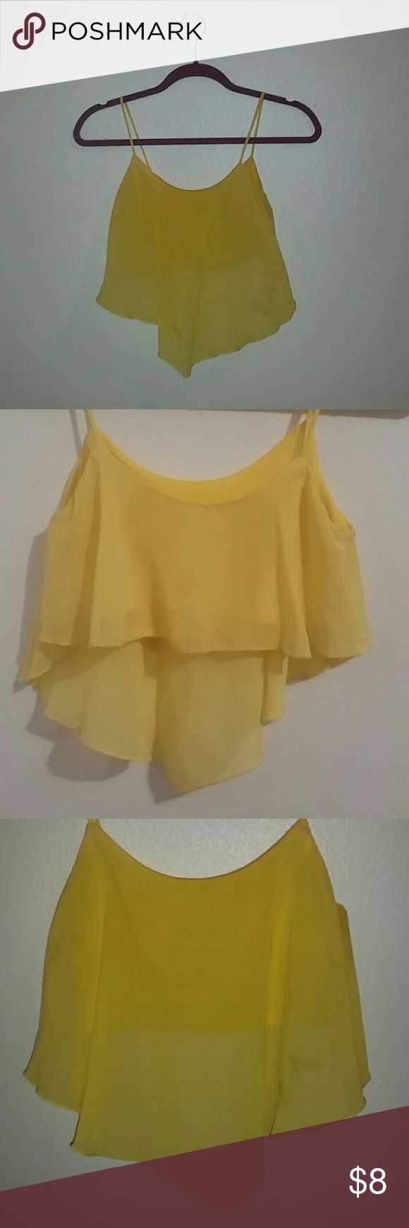 Yellow Crop Top This Crop Top is like new. Just used two times. 5.7.9 Tops Crop Tops