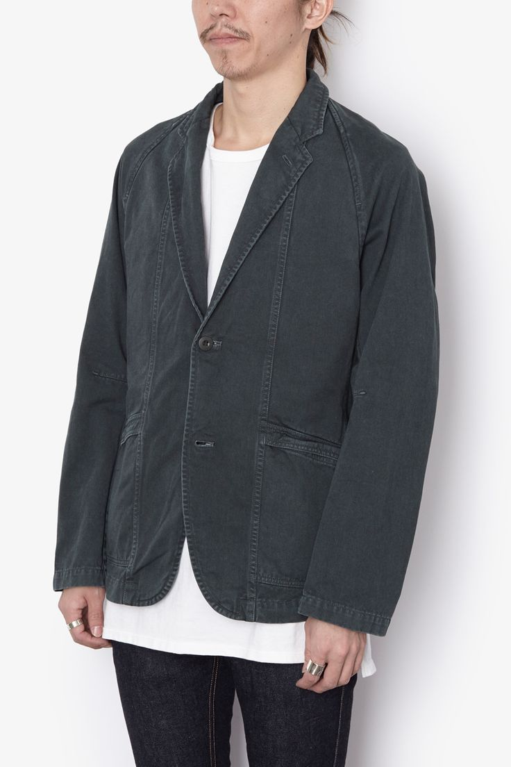CLERK 2B JACKET COTTON CHINO CLOTH OVERDYED | JACKETS | COVERCHORD