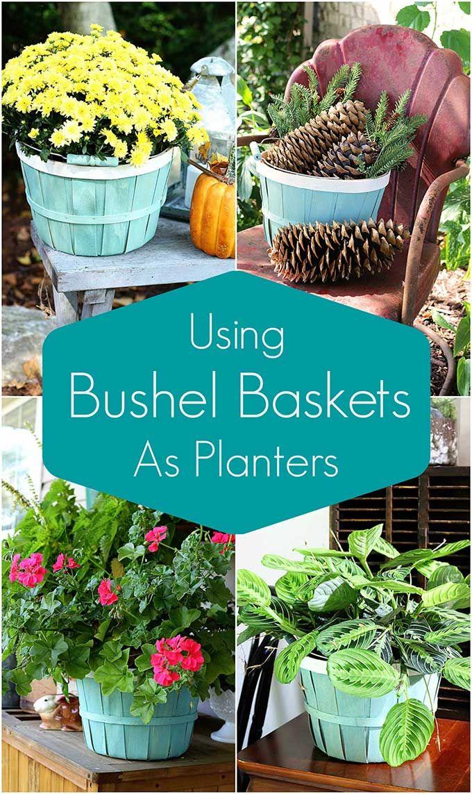 Simple Bushel Basket Planter Project With Images Bushel