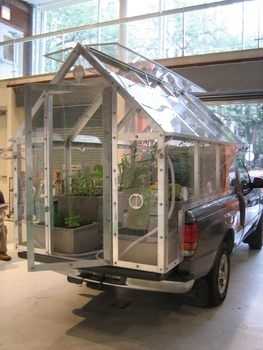 Austin Schull's Migratory Greenhouse - similar to my permaculture trailer :)