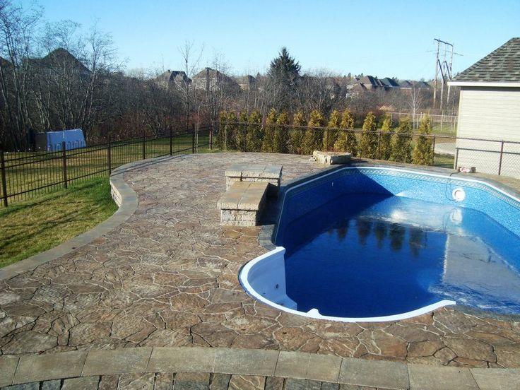 Pav uni et cl ture pour l 39 am nagement paysager d 39 une - Cloture amovible pour piscine creusee ...