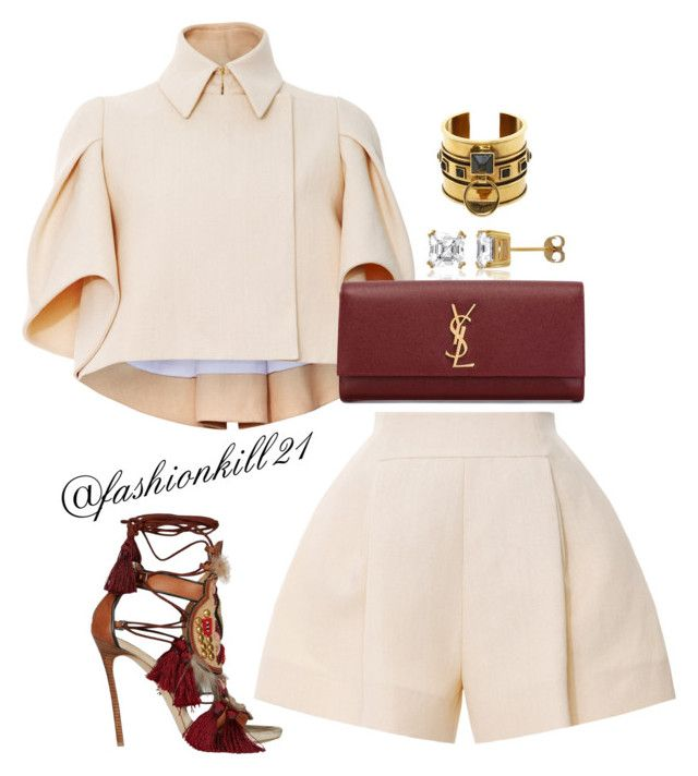 """Untitled #1157"" by fashionkill21 ❤ liked on Polyvore featuring Delpozo, Dsquared2, BERRICLE, Alexander McQueen, Yves Saint Laurent, women's clothing, women, female, woman and misses"