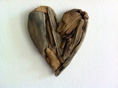 Heart made with driftwood!