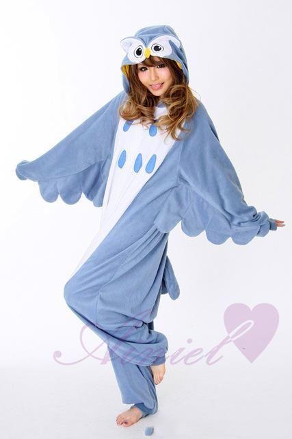 High Quality New Owl Pikachu Cosplay Costume Winter Pajamas For Women/Men Warm Flannel Adult Jumpsuit Homewear Onesies CS16458