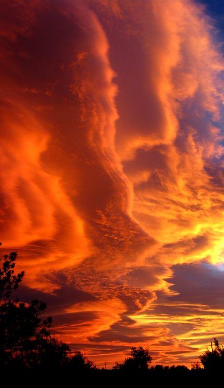 Las nubes lenticulares al atardecer en Roquetes, Cataluña, ESPAÑA • foto: Marialuisa Wittlin en Flickr