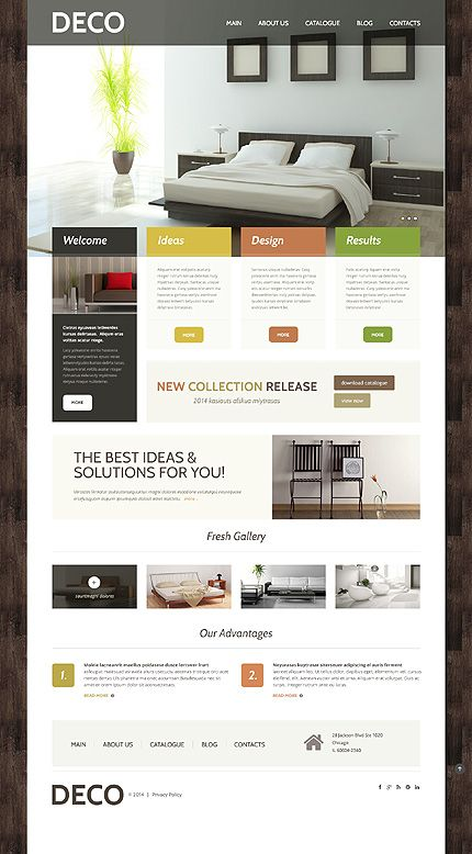Interior Design Responsive WordPress Theme Wordpress Website Template