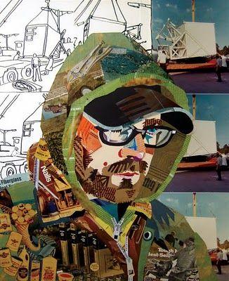 self portrait collage | Blue Collar Self Portrait