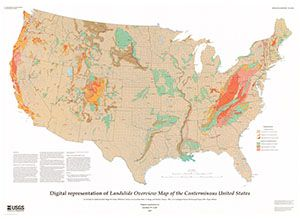 Digital Representation Of Landslide Overview Map Of The Conterminous United States Flat Freemapmonday If You Want To Get Involved Find Us On Twitter