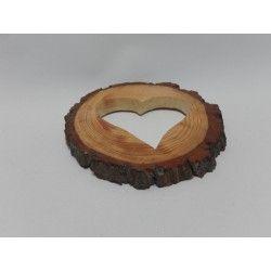 RODAJA DE TRONCO - CORAZÓN (20cm) #natural #madera #materiales #decoración #navidad #sanvalentin