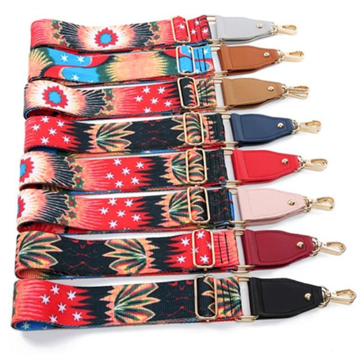 New Handbags Strap Multi-color Flower Belt Suit for any Bag Purse Adjustable #LFS