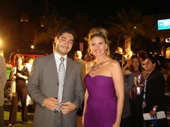 With Egyptian Actress Yosra