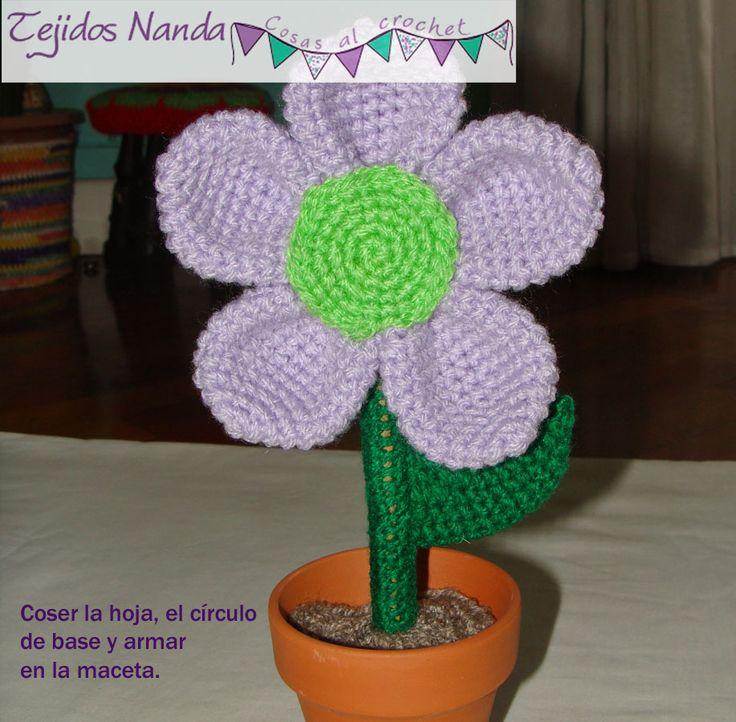 24 best flores al crochet en maceta paso a paso images on