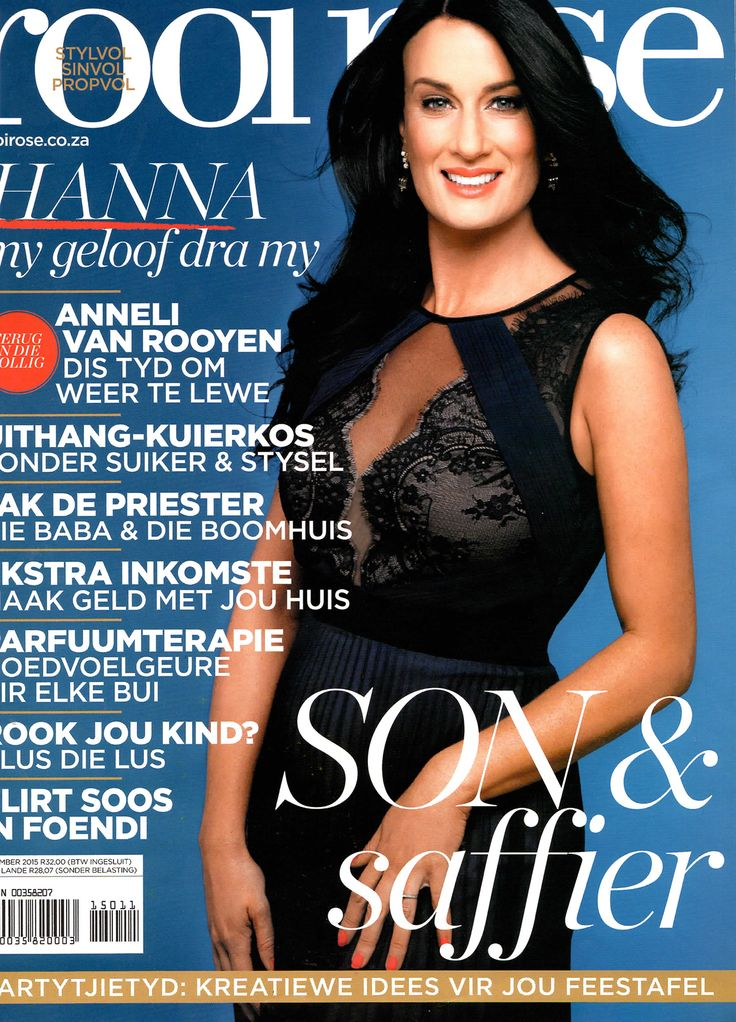We are so proud to be dressing the Beautiful (Inside&Out) SA Actress @HannaGrobler - in this months @rooi_rose Mag