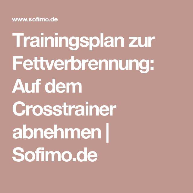 Trainingsplan zur Fettverbrennung: Auf dem Crosstrainer abnehmen   Sofimo.de