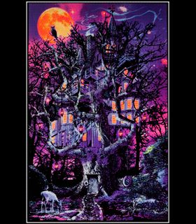 BL6038 Opticz Treehouse Blacklight Reactive Poster Part 55