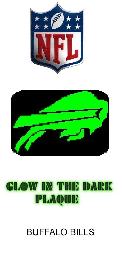 Buffalo Bills Glow in Dark Window Plaque plastic canvas catalog item by Michael Kramer
