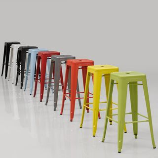 Tabouret 30 Inch Limeade Metal Bar Stools (Set Of 2), Green