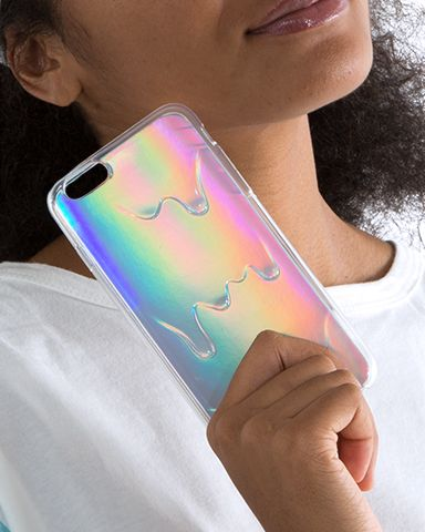 Your iPhone will look like a waterfall with this iPhone case - complete with rainbow background! Available for the iPhone 6 and 6+. Ships from the USA.