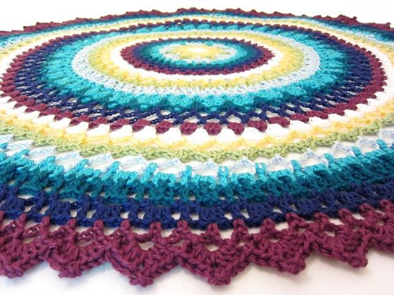 Crochet Patterns For Round Baby Blankets : lacy baby blanket - round baby blanket - crochet baby ...