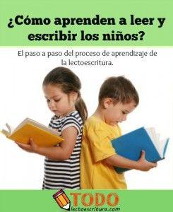 como aprender a leer y escribir los niños