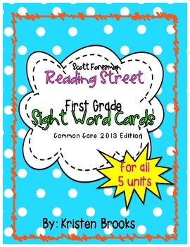 Reading Street First Grade Sight/ High-Frequency Word Cards (2013 ...