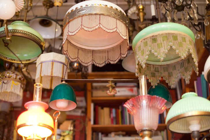 Of course I would have to go to France to find a lamp shop as charming as this.