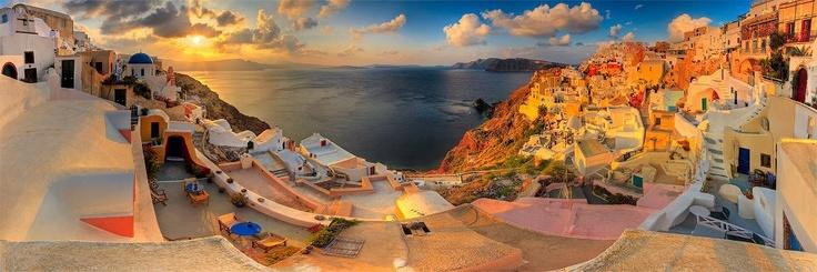 Panoramic view of Santorini, Greece