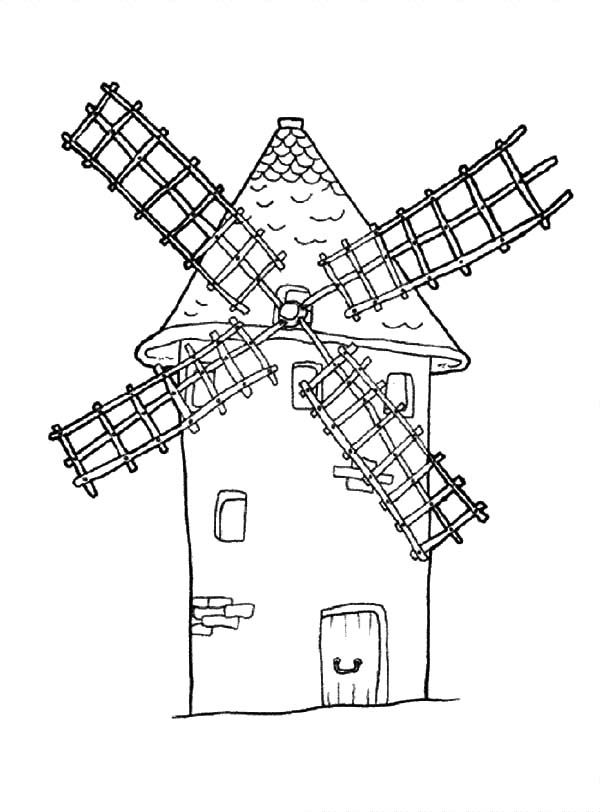 free coloring pages dutch windmill - photo#28