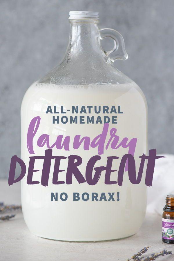 Homemade Borax Free Laundry Detergent Recipe Natural Laundry Detergent Cleaning Hacks Laundry Detergent
