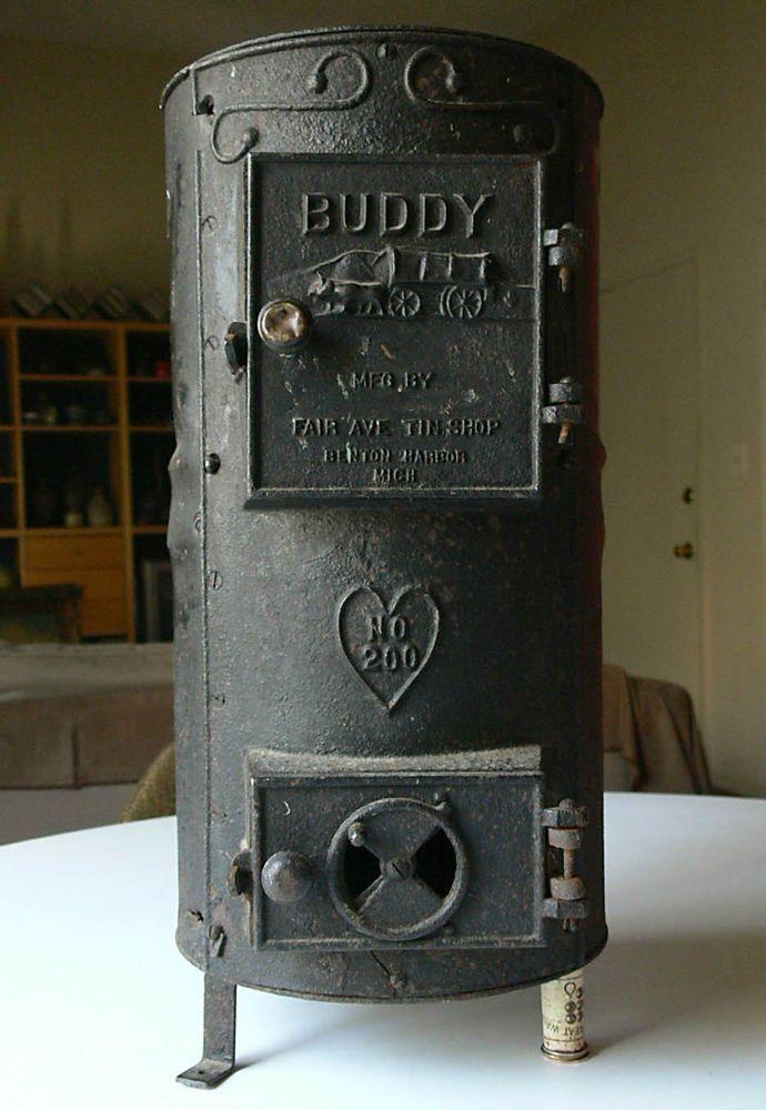 Details About Vtg Antique Buddy 200 Cast Iron Stove