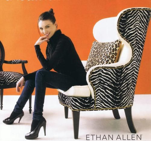 When I Saw This Pic, I Painted My Living Room Orange (matches My Zebra Rand  Chair Perfectly!