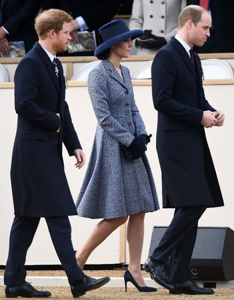 Newmyroyals-War Memorial Unveiling, London, March 9, 2017-Prince Harry and the Duke and Duchess of Cambridge